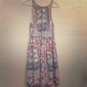 Anthropologie Print Summer Dress